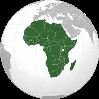 mapa afrického kontinentu
