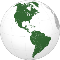 The Americas map