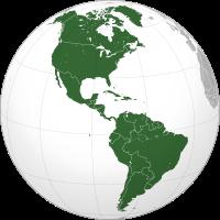 Americký kontinent mapa
