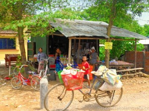 Bicycle and people Cambodia