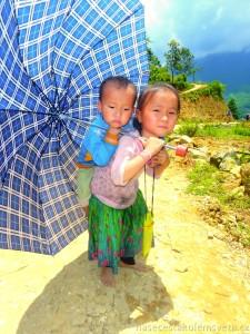 Children in Sapa Vietnam