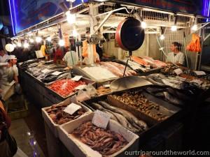 Rybí trh v Santiagu
