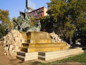 Fountain in Santiago de Chile