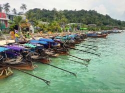 Long-tail boats Phi Phi Islands Thailand