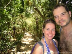 Martina and Pavel at Cenote Azul
