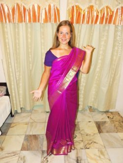 Marti in saree