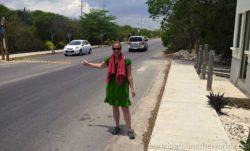 Martina hitchhiking
