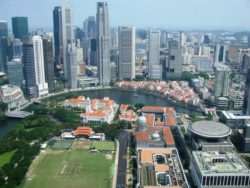 Modern and old Singapore