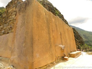 Megalithic blocks in Ollantaytambo