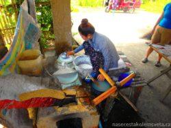Rice paper manufacture
