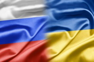 Russia Ukraine flag