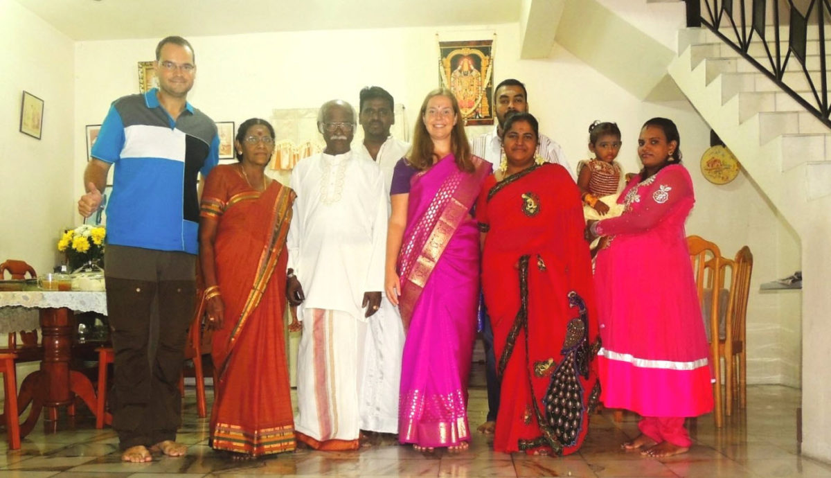 Travellers with Indian family in Malaysia