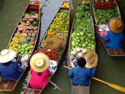 Trhy na vodě Bangkok Thajsko