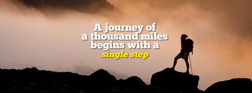 single step, journey, travelling