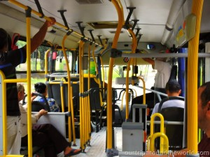 bus from inside
