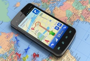 electronics, mobile, map