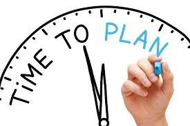 plan, time to plan